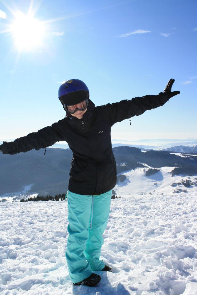 One of the best moments of the year - jumping off the mountain top