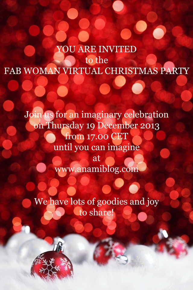 anamiblog, party invitation, christmas, fab woman project