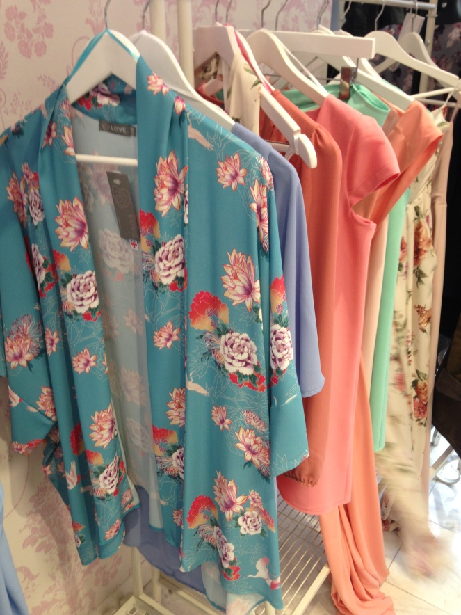 LOVE Turquoise Oriental Kimono