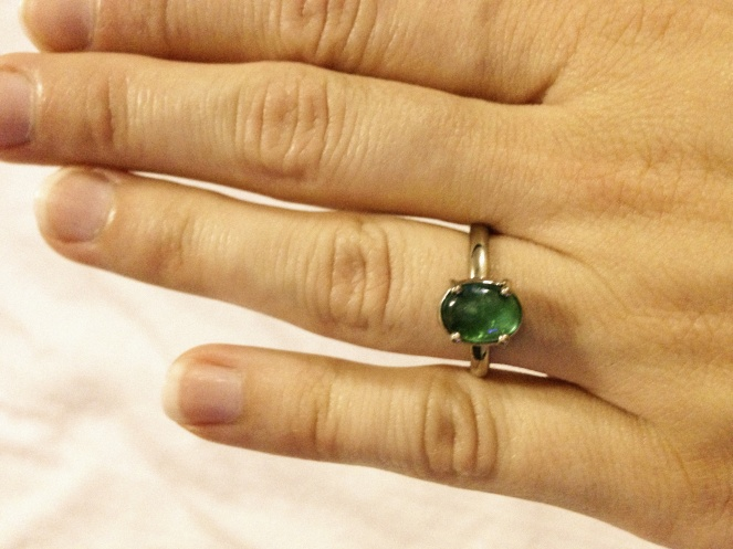 barbora rybarove jewellery, engagement, emerald ring