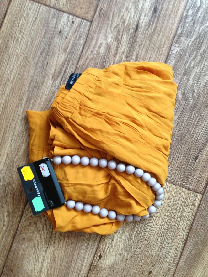 reserved, maxi skirt, necklace