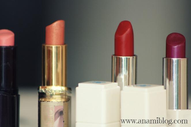 lipstick collection, anami's lipsticks