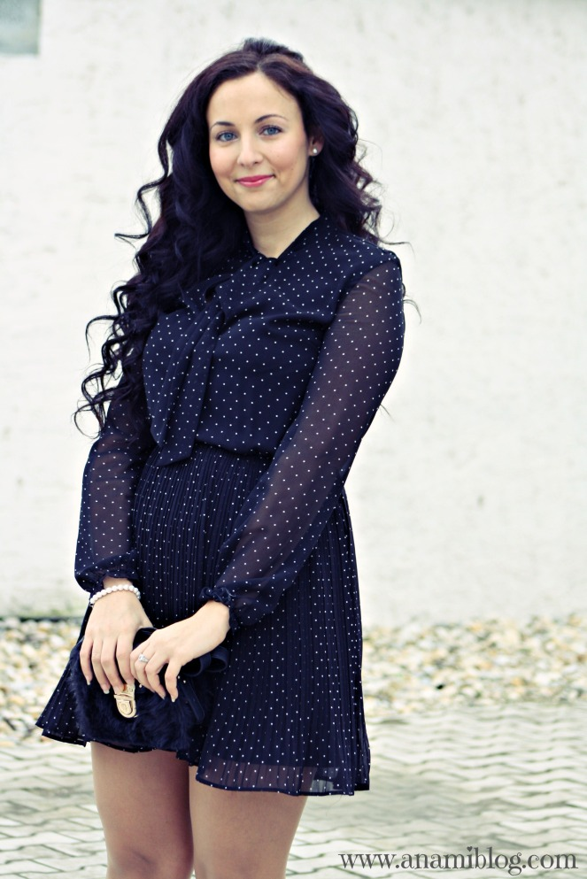 polka dot dress, spring outfit, ootd, streetstyle