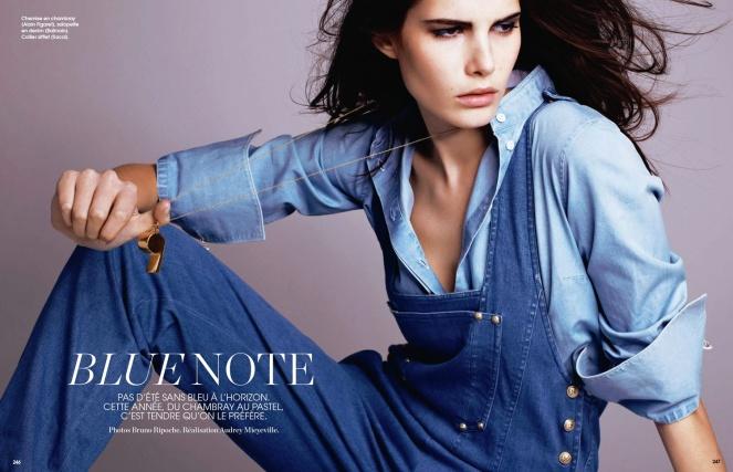 monica cima, marie claire france, fashion, editorial, colour, blue, france