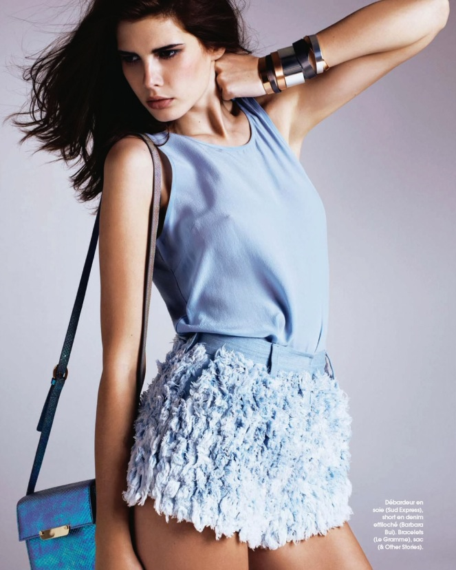 monica cima, marie claire france, fashion, editorial, colour, blue, france