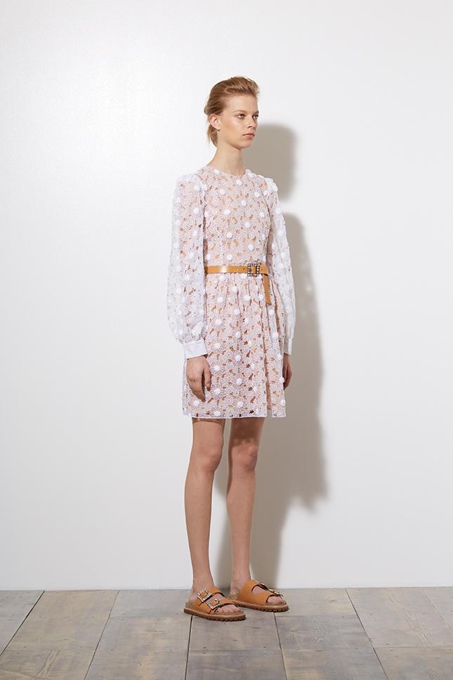 michael kors, resort 2015, fashion, outfit, white dress, tomboy, romance, collection
