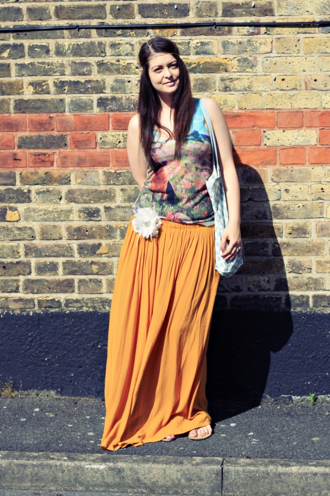 summer outfit, maxi skirt, ootd, lookbook, fashion, anami