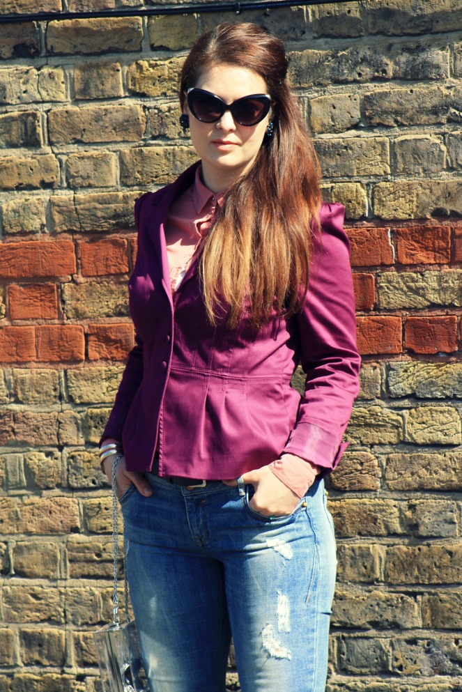 ootd, outfit, fashion, lookbook, streetstyle, london, jacket, ripped jeans