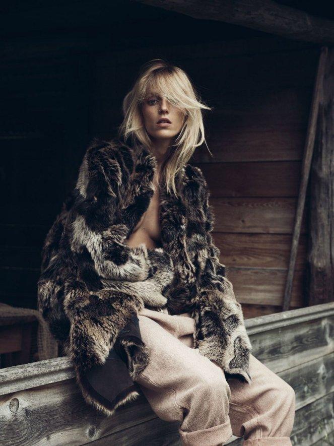 anja rubik, vogue, editorial, fashion, autumn, jumper