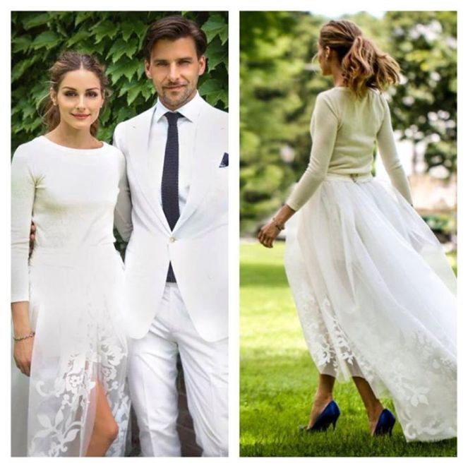 wedding dress, olivia palermo, jim hjelm, ebay, koka fashion, ceremony, bridal, wedding