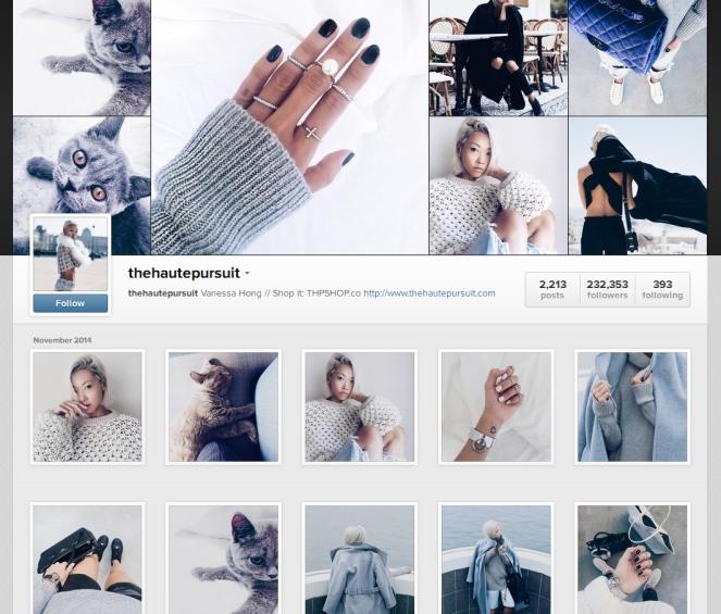 vanessa, haute pursuit, instagram inspiration