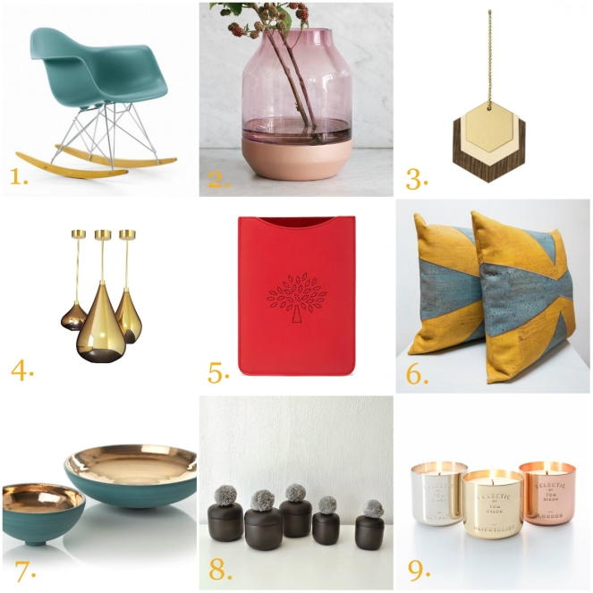 christmas, gift, eames, kerry hastings, tom dixon, muuto, mind the cork, mulberry