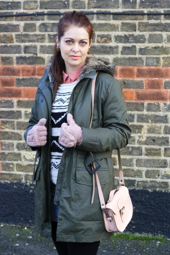 mango, parka, new look, hm, winter, outfit, ootd, personal style, lookbook, gloves