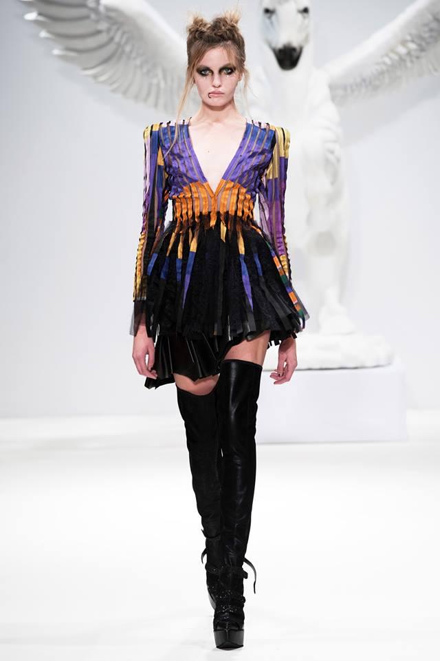 london fashion week, dora abodi, reka vago, the Cult of the Twin Unisus, hungarian fashion, fashion, gothic style, leather
