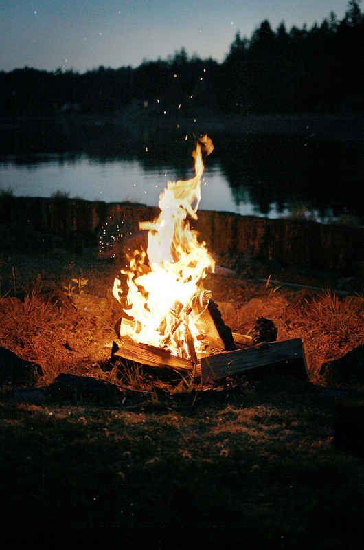 Summer nights, fireplace