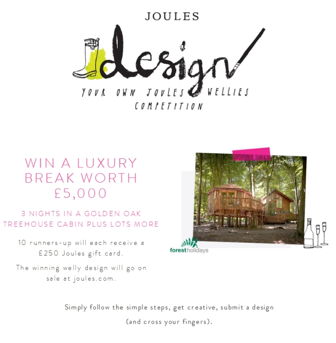 joules, wellies, competition