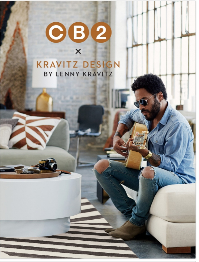 cb2, lenny krawitz design, furniture
