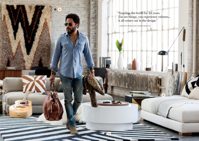 cb2, lenny kravitz design, furniture