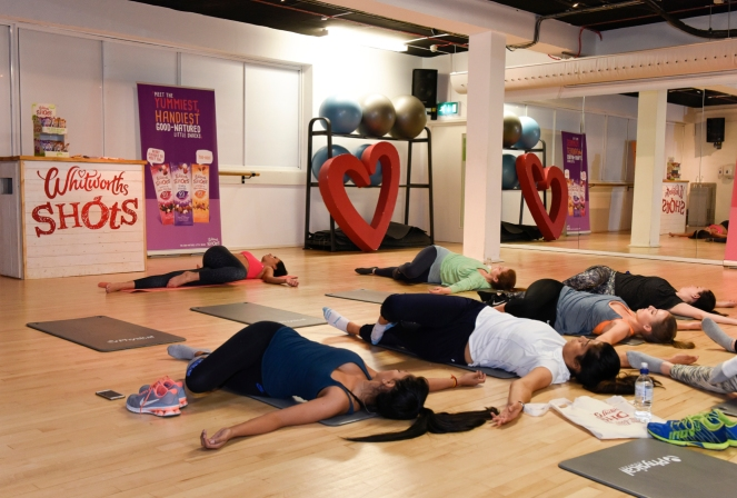 Willpower Workout class-goers stretch out with Fitstagrammer Lilly  Sabri