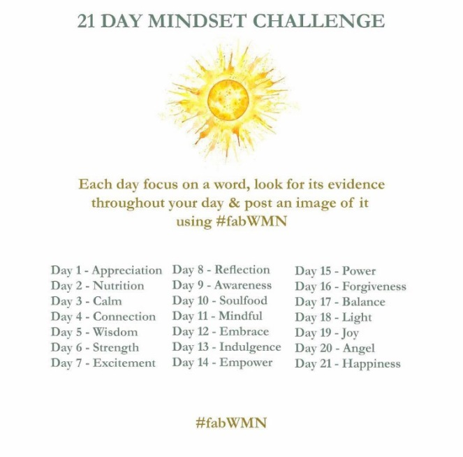 21 day mindset challenge by Anami blog