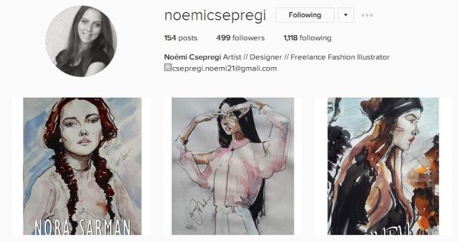 noemi csepregi, fabwmn, budapest metropolitan university, fashion illustration, anamiblog